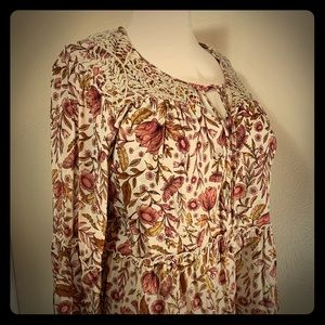 Style & Co. Boho Printed Bell-Sleeve Peasant Top